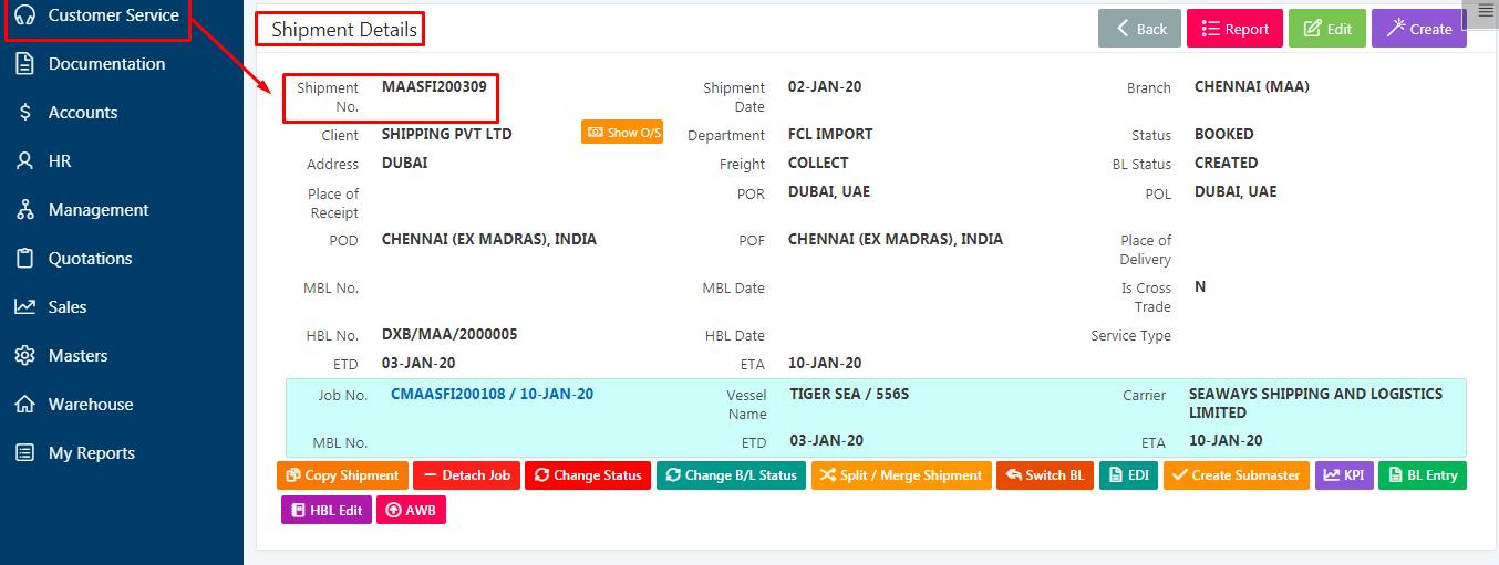 shipment client status