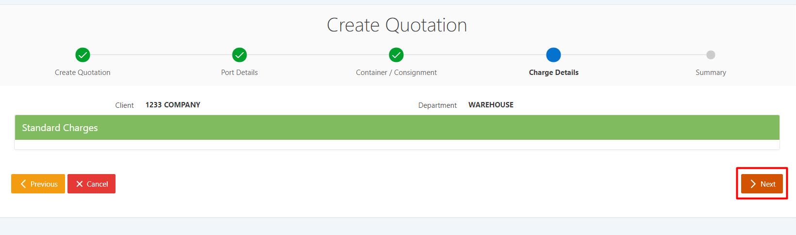 Warehouse Quotation