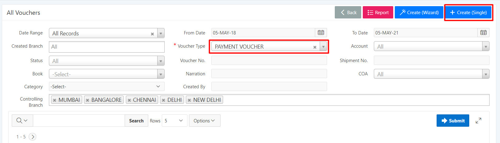 payment voucher entry