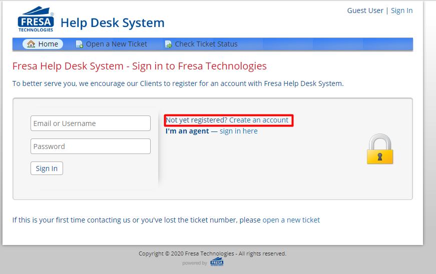 login to Fresa help desk